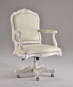 EVITA OFFICE swivel chair 8532A, Presidential office chair, classic luxury, with wheels