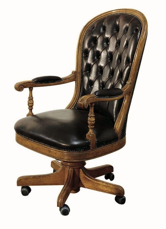 Follonica ME.0955, Leather executive chair, swivel, adjustable