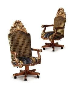 Hermitage B/2071/A/S/1, Swivel armchair suited for classics offices