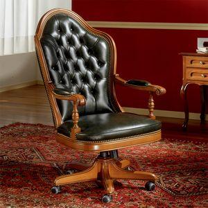 JEFFERSON, Classic capitonn� office chair