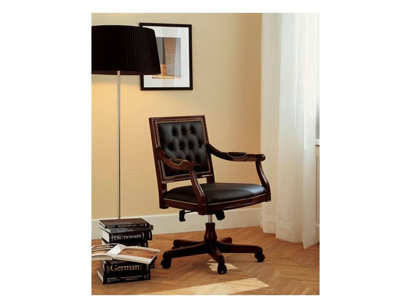 LUIGI XVI QUADRA office 8223A, Luxury presidential office chair, tilting mecanism