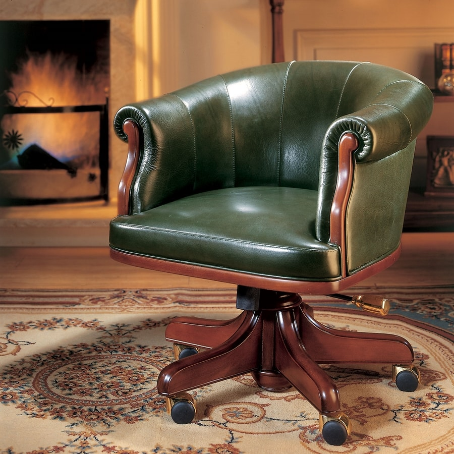 ROOSEVELT, Classic office chair with low backrest