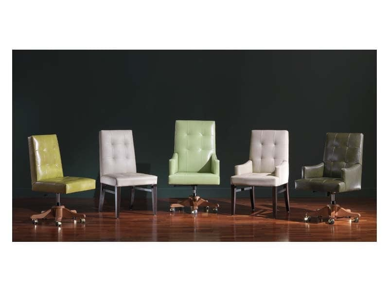 Star 2, Precious office chair in classic style, for luxury furnishings