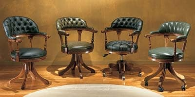 Study, Swivel chair with tufted backrest