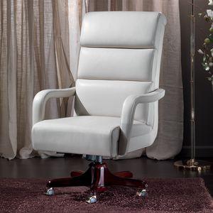 TRUMAN, Leather armchair for prestigious offices