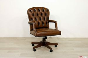 Wall Street, Swivel armchair with small dimensions for small offices