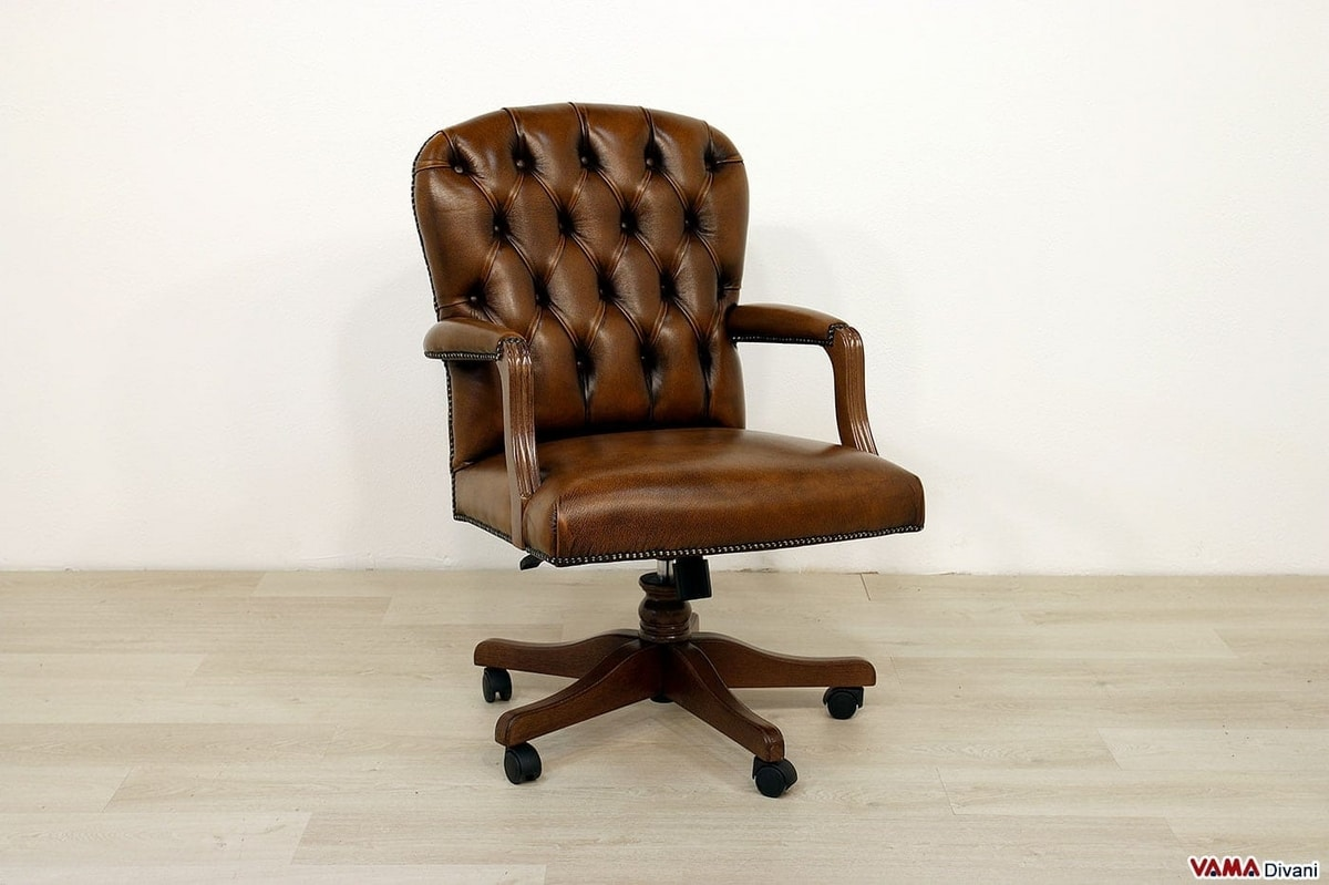 Swivel Armchair With Small Dimensions For Small Offices