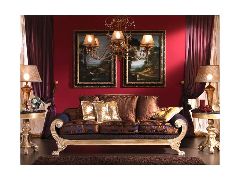 3 Seater Sofa Empire Style For Classic Lounge Idfdesign