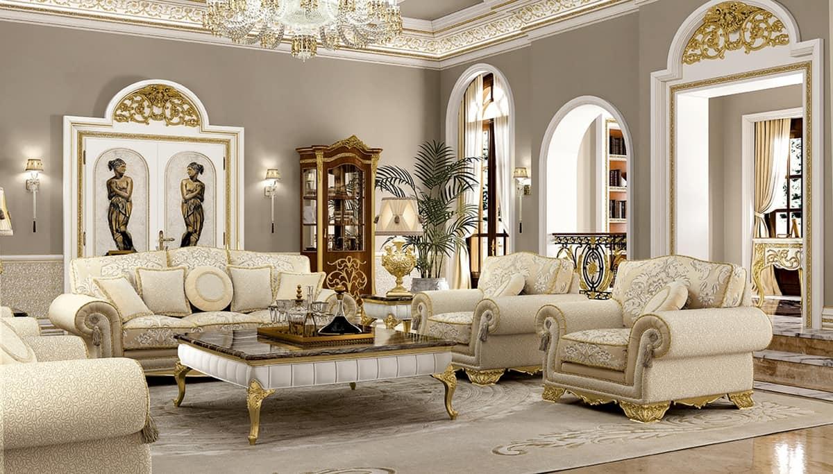 Salotti Classici In Pelle.Three Seats Sofa For Classical Sitting Rooms Idfdesign