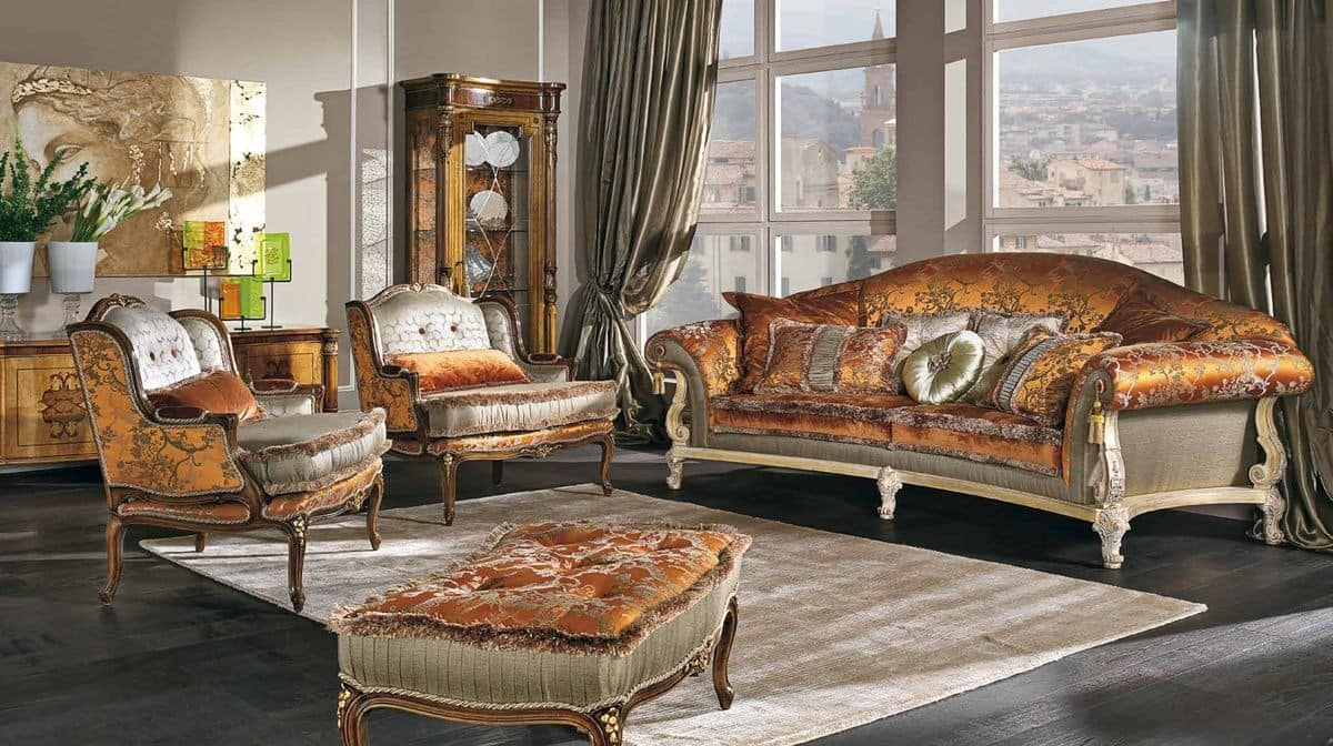 Charmant 7752, Luxury Classic Sofa With 3 Places For Elegant Lounges