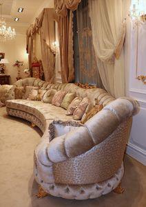 Aida corner sofa, Large corner sofa, classic style