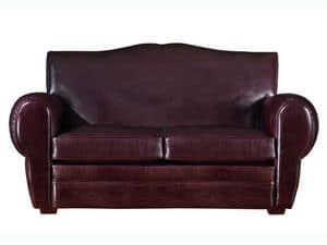 Alberto Sofa, Classic luxury leather sofa, for various environments