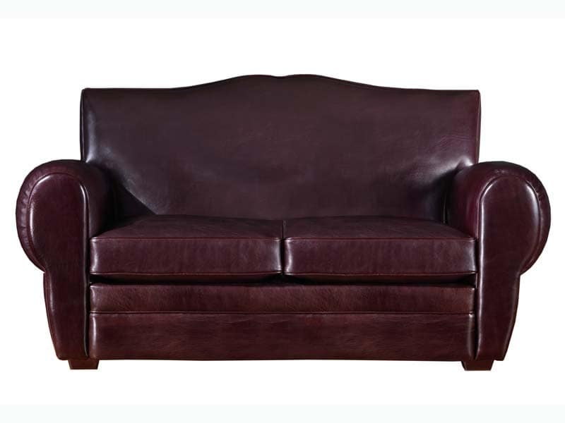 Alberto Sofa, Classic luxury leather sofa, for various environments