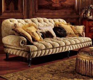 Albina sofa, Three-seater sofa with quilted padding