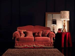 Alessandra, Tufted sofa, 2-seater, custom made, for living room