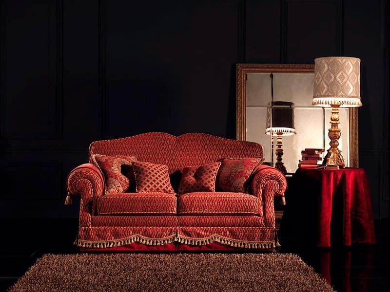 Alessandra, Tufted sofa, 2-seater, custom made, for living room