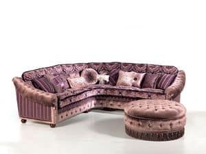 Angelica, Upholstered corner sofa, quilted, custom made