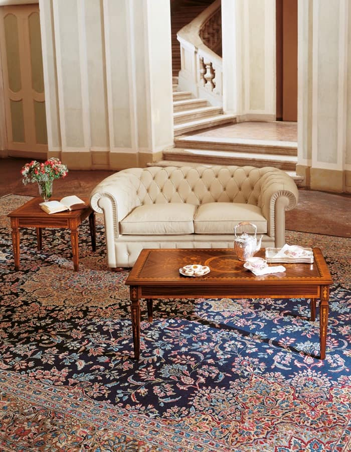 Art. 1009, Two-seater sofa with quilted backrest and armrests