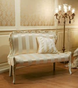 Art. 1078, Sofa in fabric without armrests, baroque style