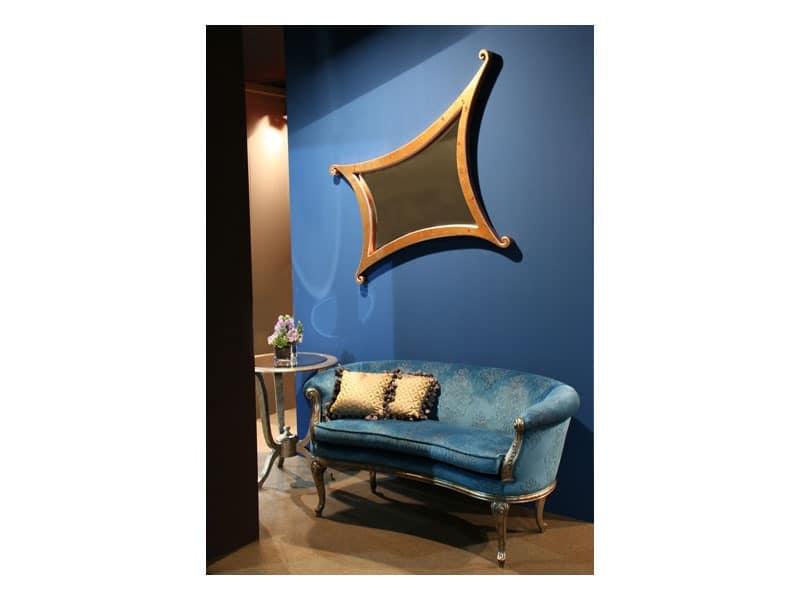 Art. 1618 Milo, Sofa luxury classic, velvet covering, for lobby