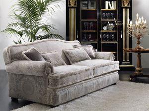 ART. 2069, Classic style 3-seater sofa
