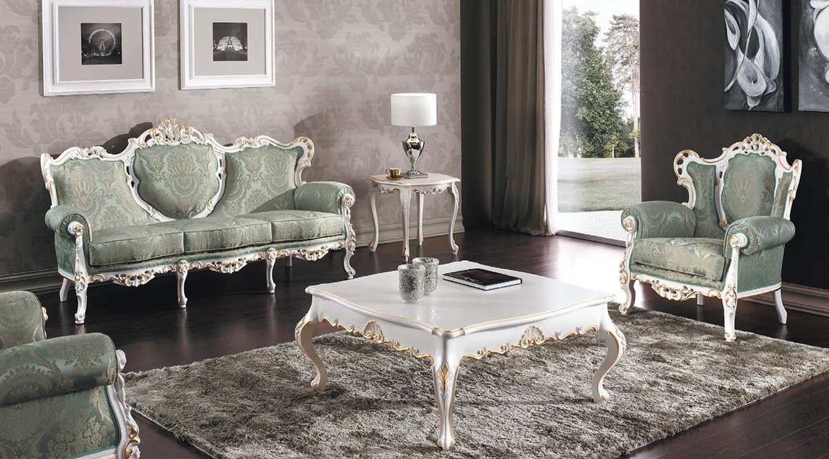 Art. 3140, Majestic carved sofa