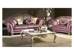 Art. MA 43 Majestic, Classical couch of great elegance, rich of precious details