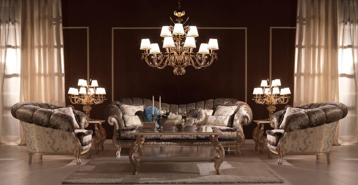 Benedetta, Luxury classic sofa, high-quality, for villas