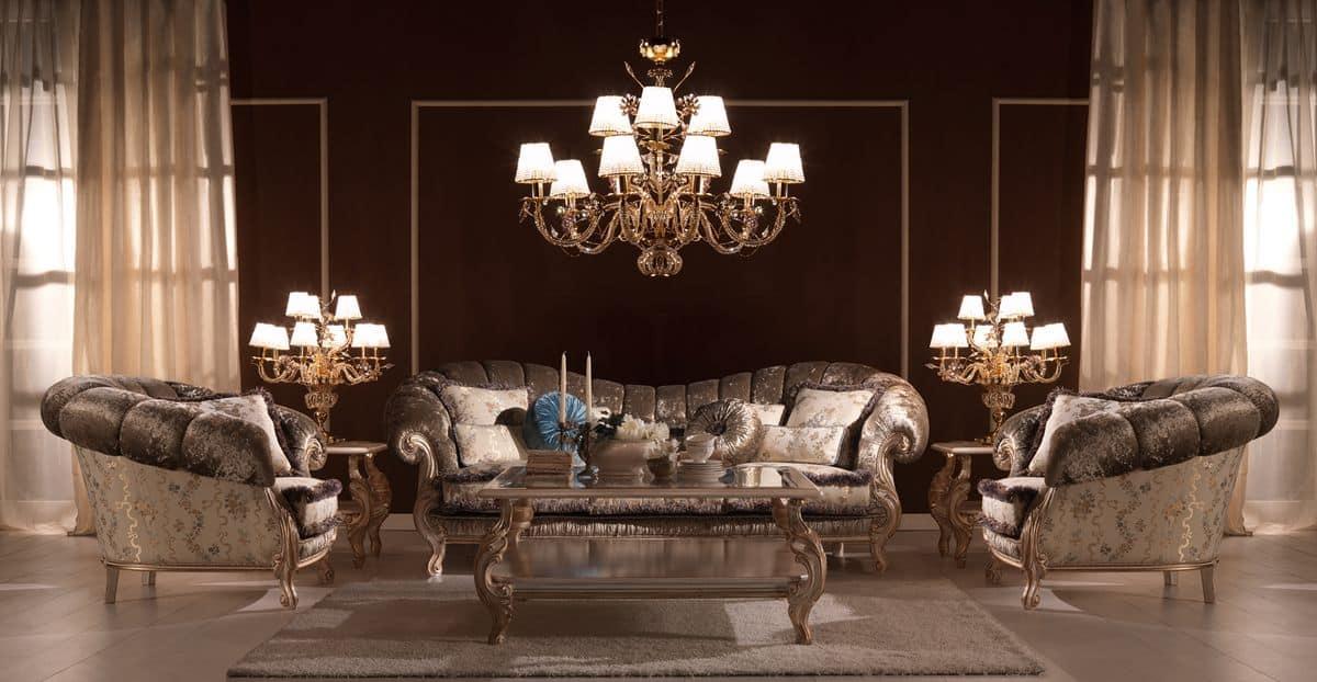 Benedetta, Luxury classic sofa, high-quality, for villas