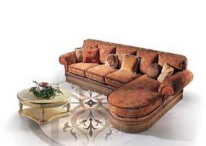 Cairo Tre, Classic luxury sofa with peninsula