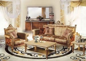 Cambridge Uno/B, Living room sofa in classic luxury style