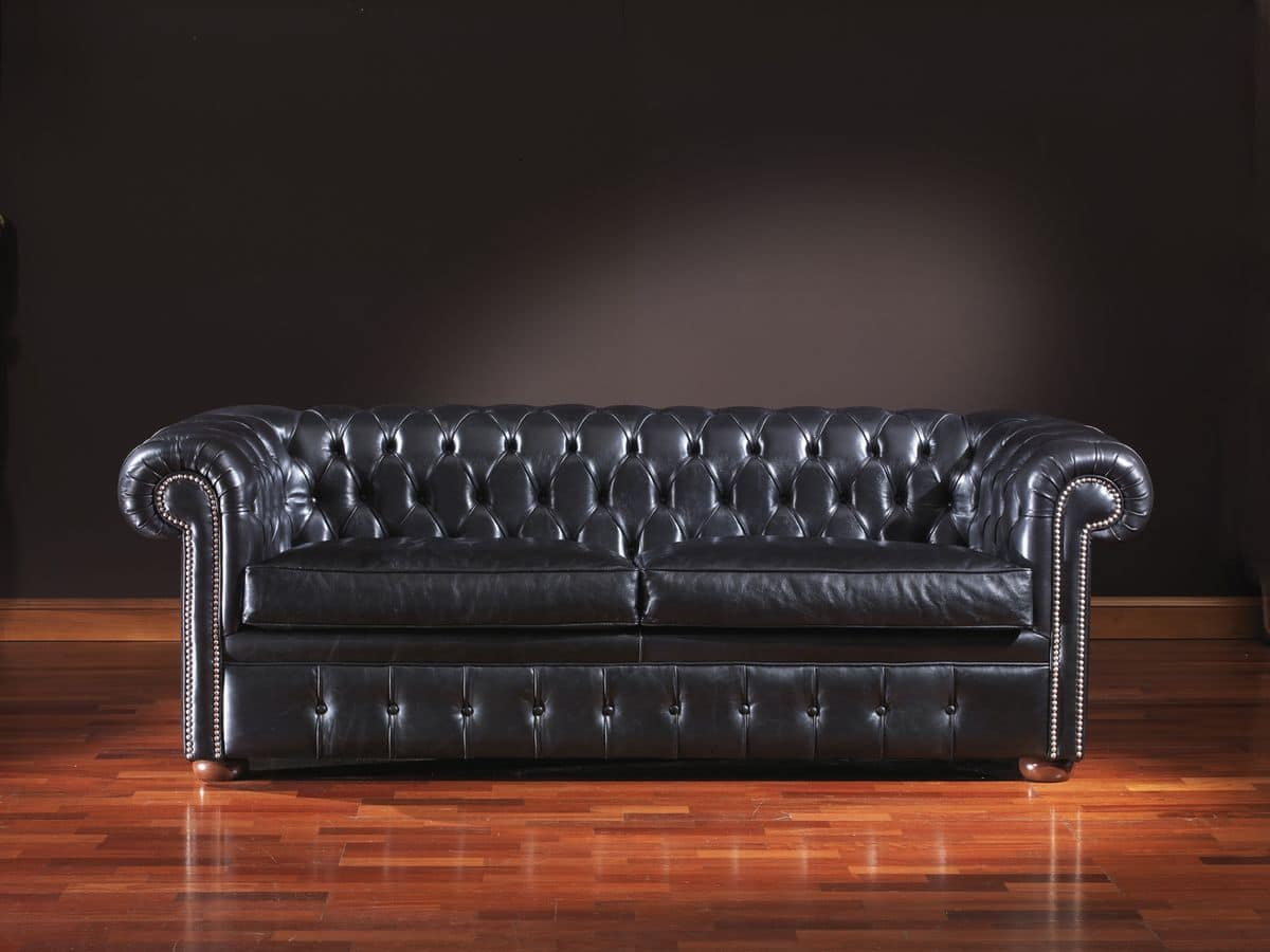 Chesterfield, Timeless leather sofa suited for office and residential environments