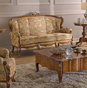 Chippendale 3 seater sofa, Classic style sofa, with decorative carvings