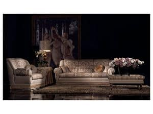 Cinzia sofa, Tufted sofa, luxury classic style, various measures
