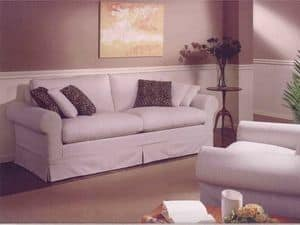 Copenhagen Sofa, Classical sofa for sitting room, with removable fabric