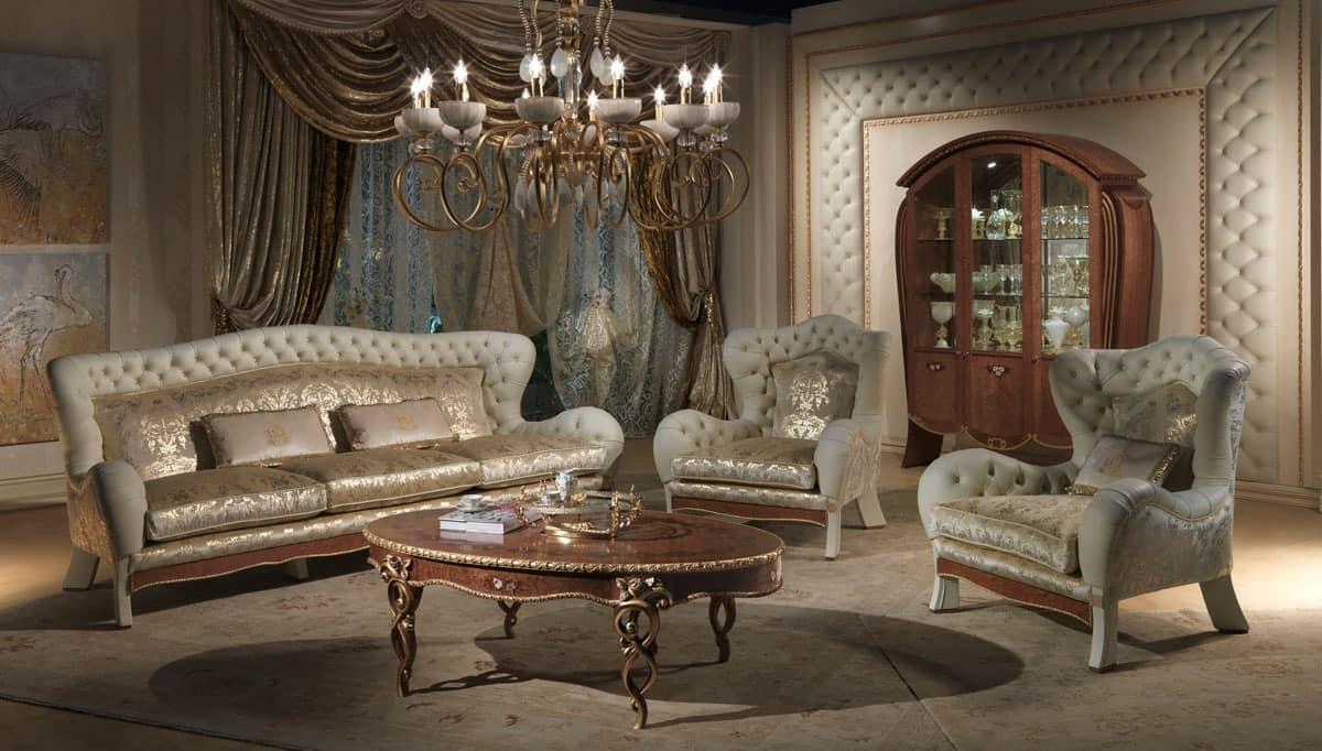 DI23 Vanity sofa, Sofa with 3 places, in classic luxury