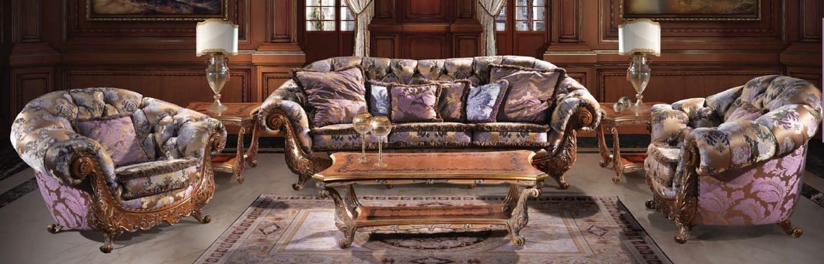 Sofa 4795, Classic sofa with high back