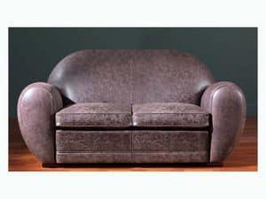 Edward Sofa, Leather sofa with a high level of craftsmanship finishes