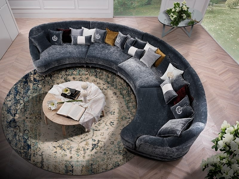 ELISIR comp.02, Two-seater semi-circular sofa