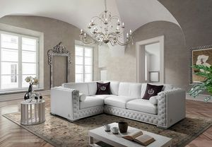 ELITE angular, Corner sofa with tufted padding