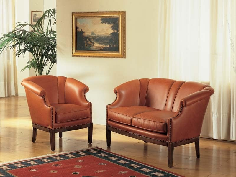 Emma Sofa, Luxury classic sofa for sitting rooms and hotel
