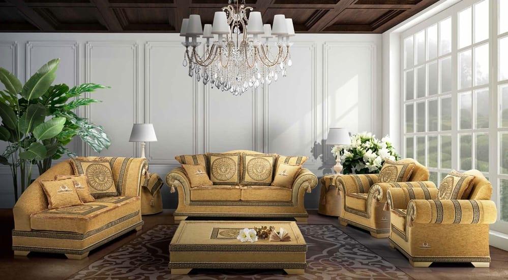 EMPORIO sofa, Classic sofa upholstered in elegant fabric