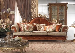 Esimia sofa, Sofa with decorations made by hand