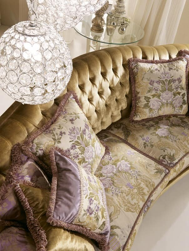 Etoile Ring capitonné, Sofa with tufted back, for classic Living room