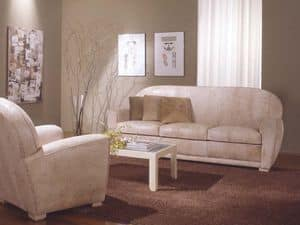 Geo Sofa, Leather sofa for the living room and waiting room