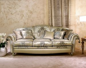 Ibisco, Classic sofa in decorated velvet