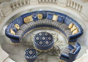 Imperial Due/B, Modular Sofa for classic living room