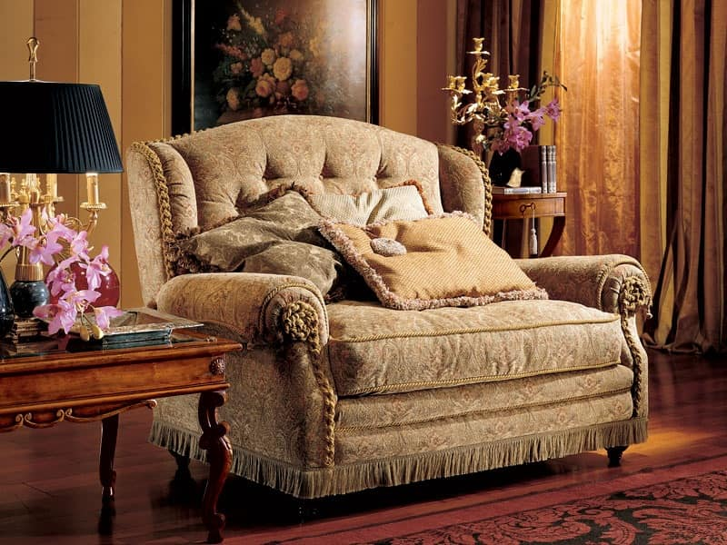Katerina sofa, Two-seater sofa, luxury classic style