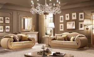 Leonardo living room, Contemporary classic living room, for villas