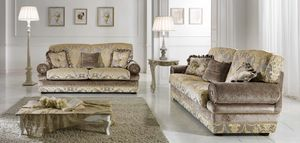 LIENZ, Sofa with important classic fabrics